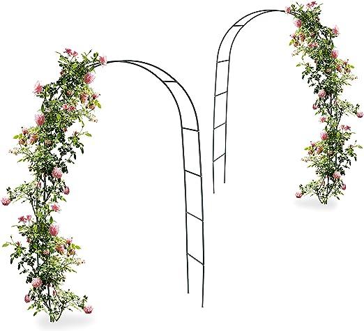 2 x arco, pérgola trepadoras, rosas, Rose Tor metal, resistente a ...