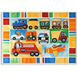 The Kids Room by Stupell Doggies Driving Vehicles Rectangle Wall Plaque