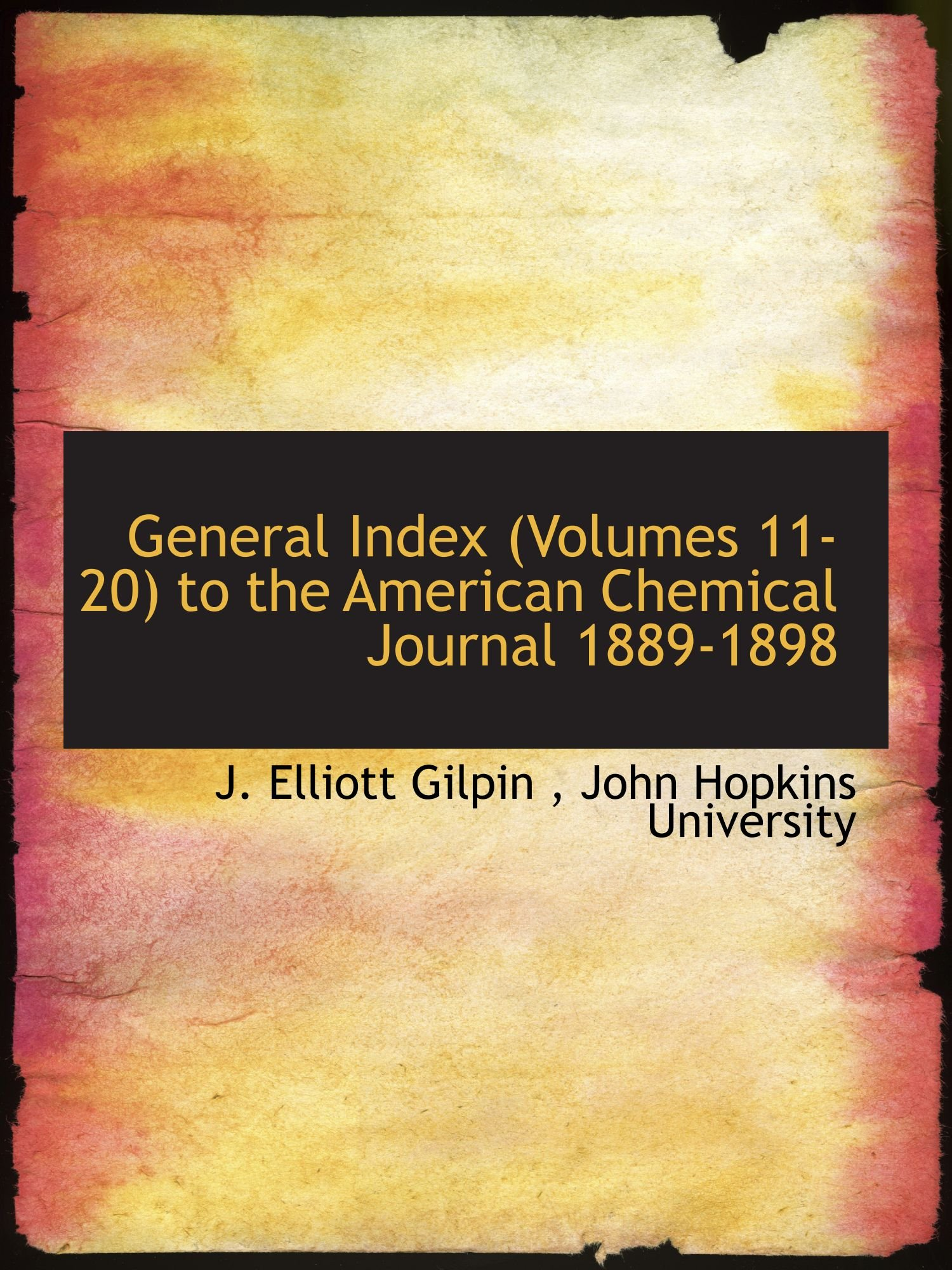 Download General Index (Volumes 11-20) to the American Chemical Journal 1889-1898 pdf
