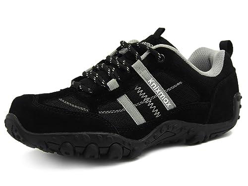 Knixmax-Zapatillas de Senderismo para Mujer, Zapatillas de Montaña Trekking Trail Ligeros Cómodos y Transpirables Zapatillas de Seguridad Low-Top ...