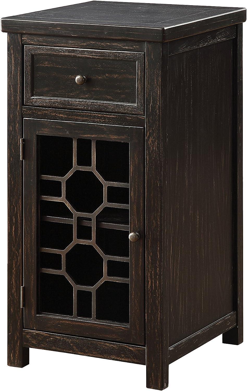 Furniture of America Lillian Side Table, Black