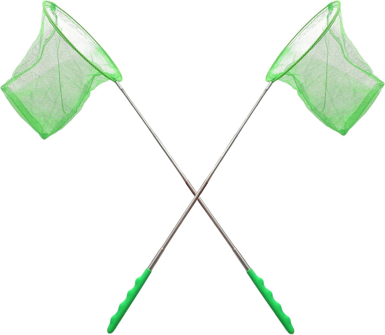 Boys /& Girls 2 Pack TukTek Butterfly Net Bug Catcher Telescoping Insect Catching Mesh Net Extendable Fish Nets for Kids