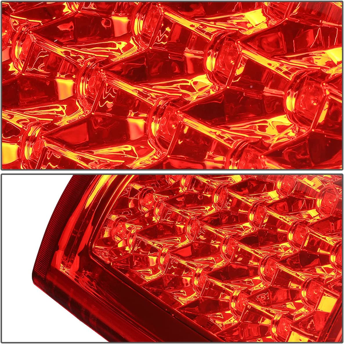 Chrome Smoked Lens LED Tail Light For Chevy Silverado 1st Gen 4pc Pair of Smoked Lens Clear Corner Headlight