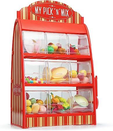 Monsterzeug Süßigkeitenautomat Retro Edition, roter Weingummi Spender, 50er  Jahre Fruchtgummi Maschine, Deko Süßwaren Theke