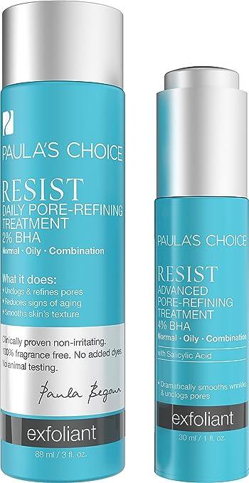 amazon com paula s choice resist bha exfoliant set complete kit for