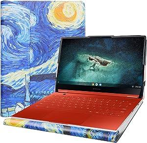 "Alapmk Protective Cover Case for 13.3"" Samsung Galaxy Chromebook 13 XE930QCA/Samsung Galaxy Book Flex 13.3 NP930QCG Laptop[Note:Not fit Samsung Galaxy Book Flex Alpha 13.3 NP730QC],Starry Night"