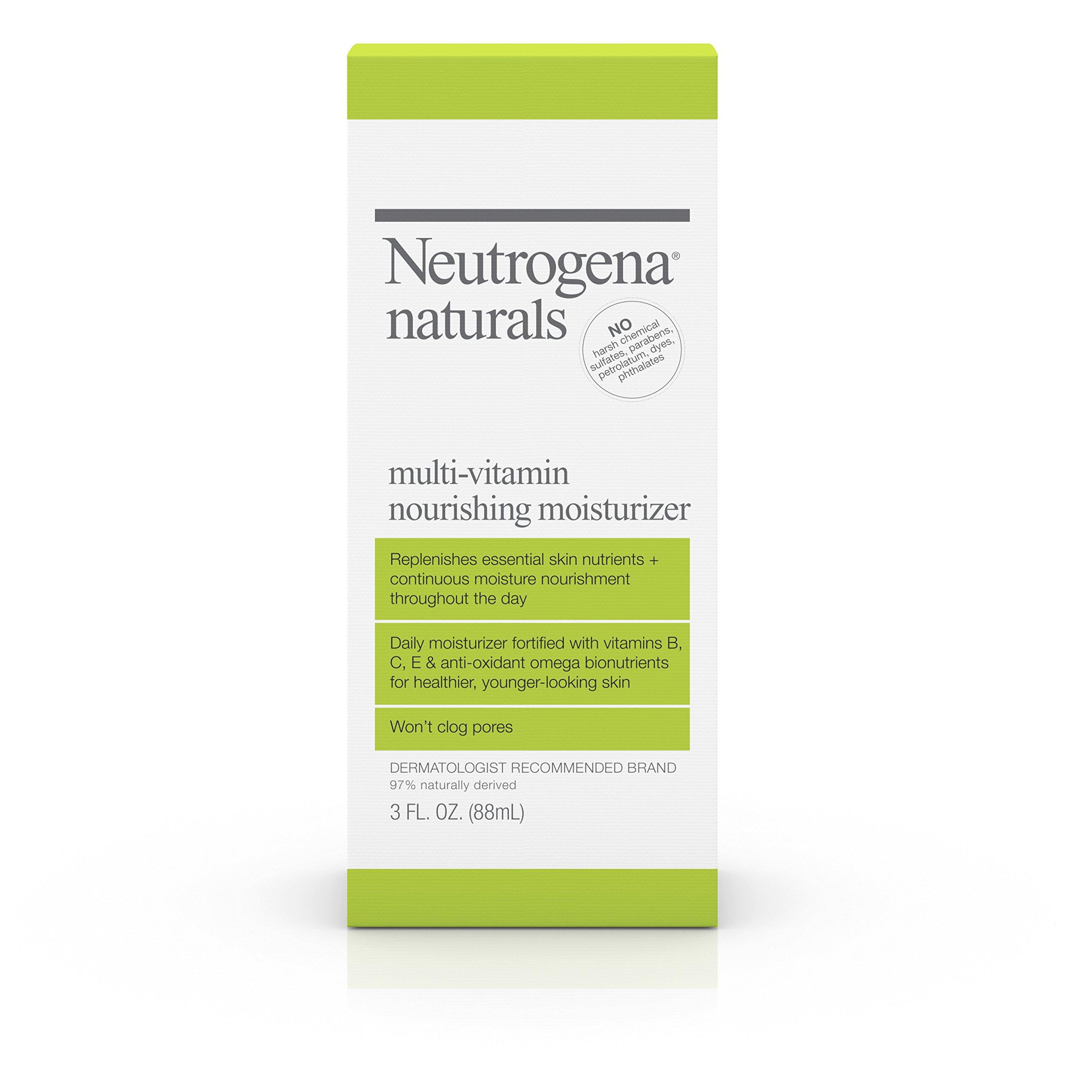 Neutrogena Naturals Multi-Vitamin Nourishing Face Moisturizer, 3 Fl. Oz.