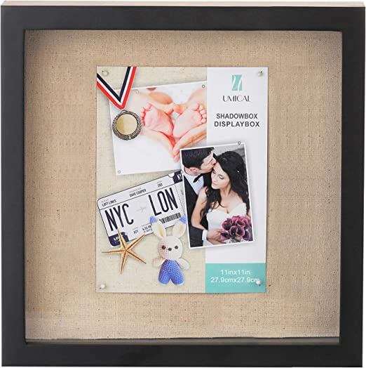 Amazon Com Umical 11x11 Shadow Box Display Case Deep Shadowbox