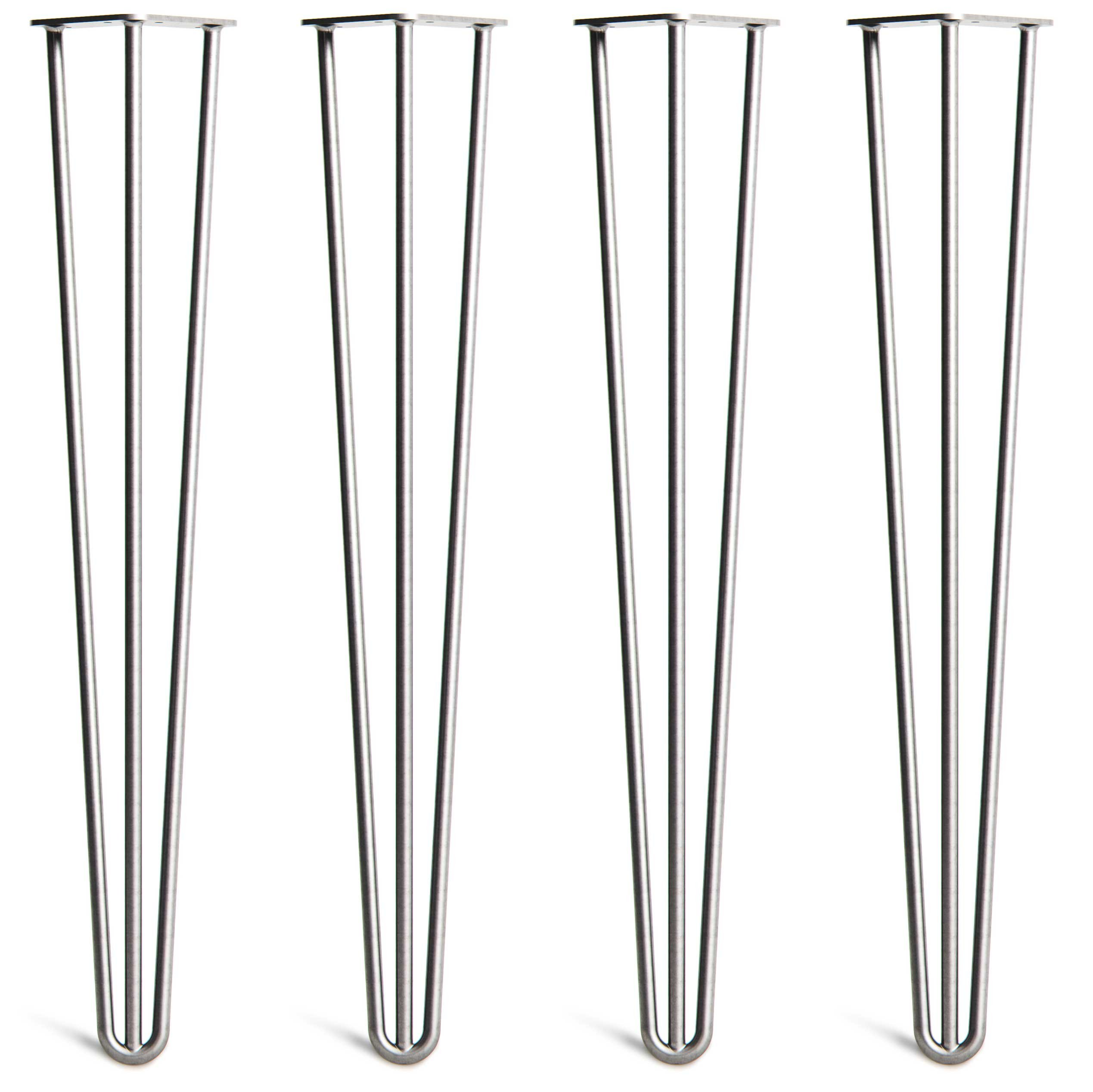 4 x Heavy Duty Hairpin Table Legs – Superior Double Weld Steel Construction With Free Screws, Build Guide & Protector Feet, Worth $10! – Mid-Century Modern Style – 16'' To 40'', All Finishes (1/2 inch)