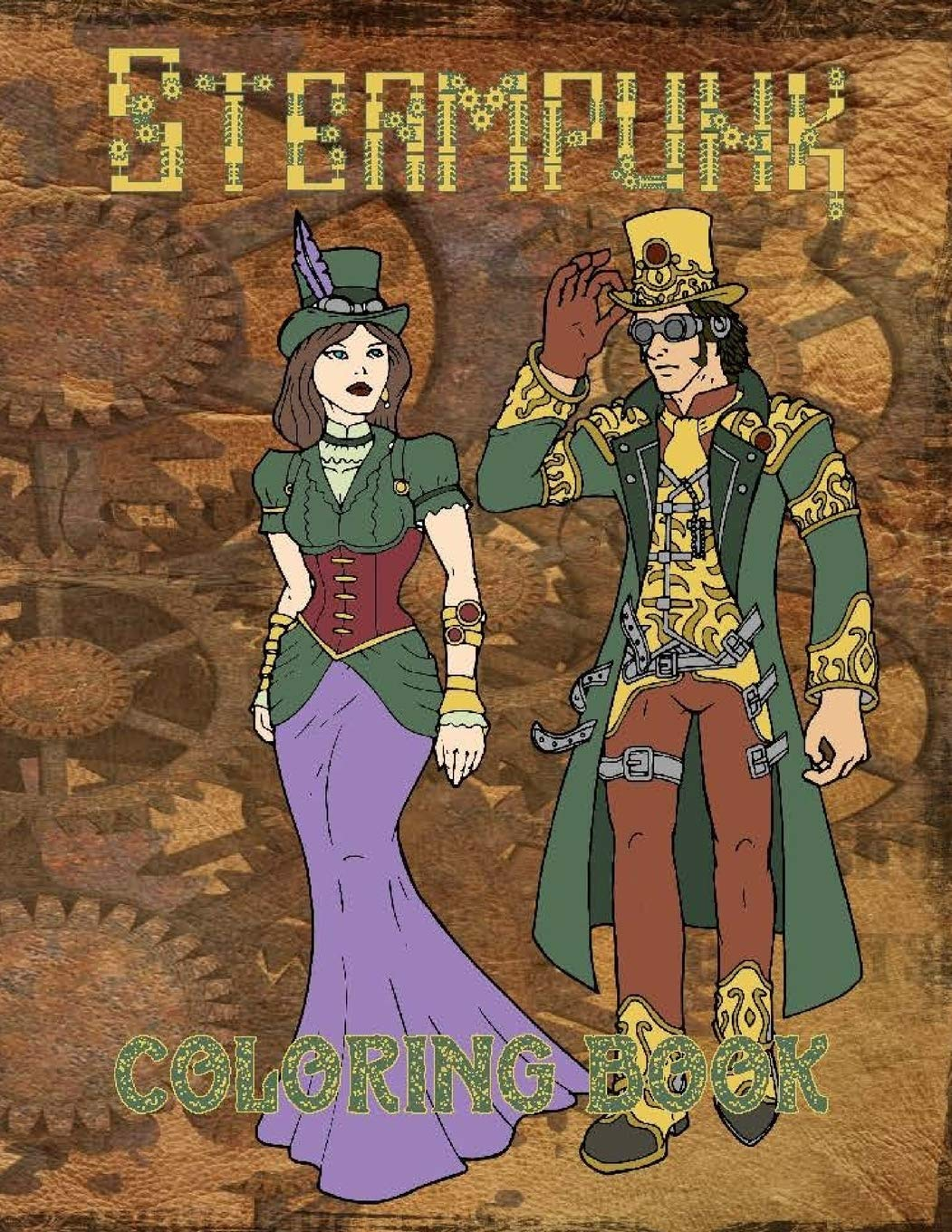 Steampunk Coloring Pages Stock Vectors, Images & Vector Art ... | 1360x1051