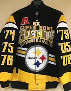 best service df798 78715 Amazon.com: Pittsburgh Steelers Six Time Championship Satin ...