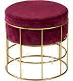 PSYGN™ Perfect Posture Iron Pouffes & Ottomans Stool (Red) (35x35x35 cm) (PI-SS-125-CH)