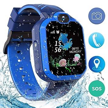 Jaybest Niños SmartWatch Phone -Niños Impermeable Smartwatch con rastreador de LBS con de Llamada SOS cámara Pantalla táctil Juego Smartwatch ...