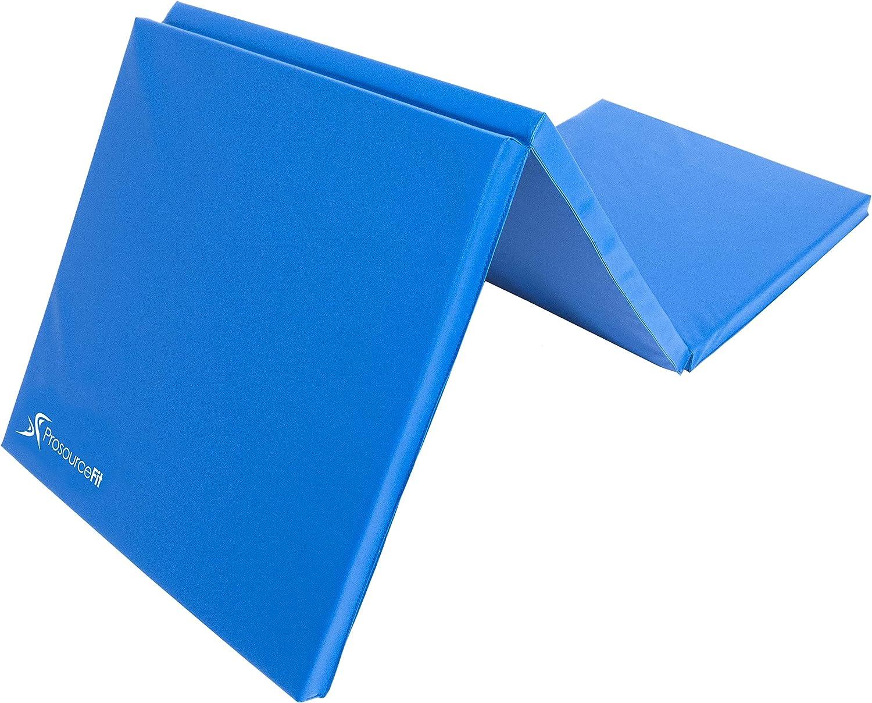 ProsourceFit Tri-Fold Folding Exercise Mat - Blue : Sports & Outdoors