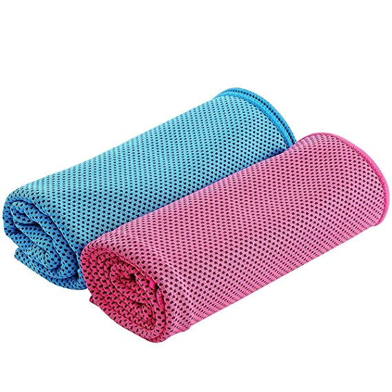 winomo 2 pieza refrigeración Toalla cinta para Outdoor Sport Yoga Fitness secado rápido.: Amazon.es: Deportes y aire libre