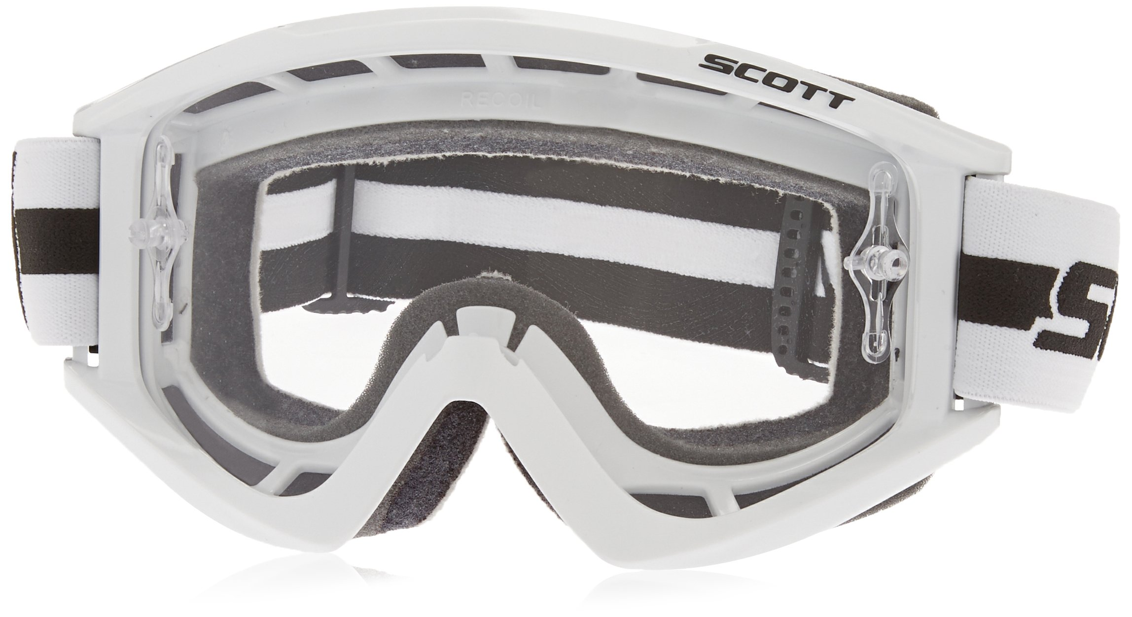 Scott Sports RecoilXi Pro Goggles with Works Clear AFC Lens (White, One Size)