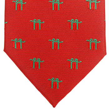 Christmas Gift Graphic Woven Microfiber Men's Tie - Various Colors