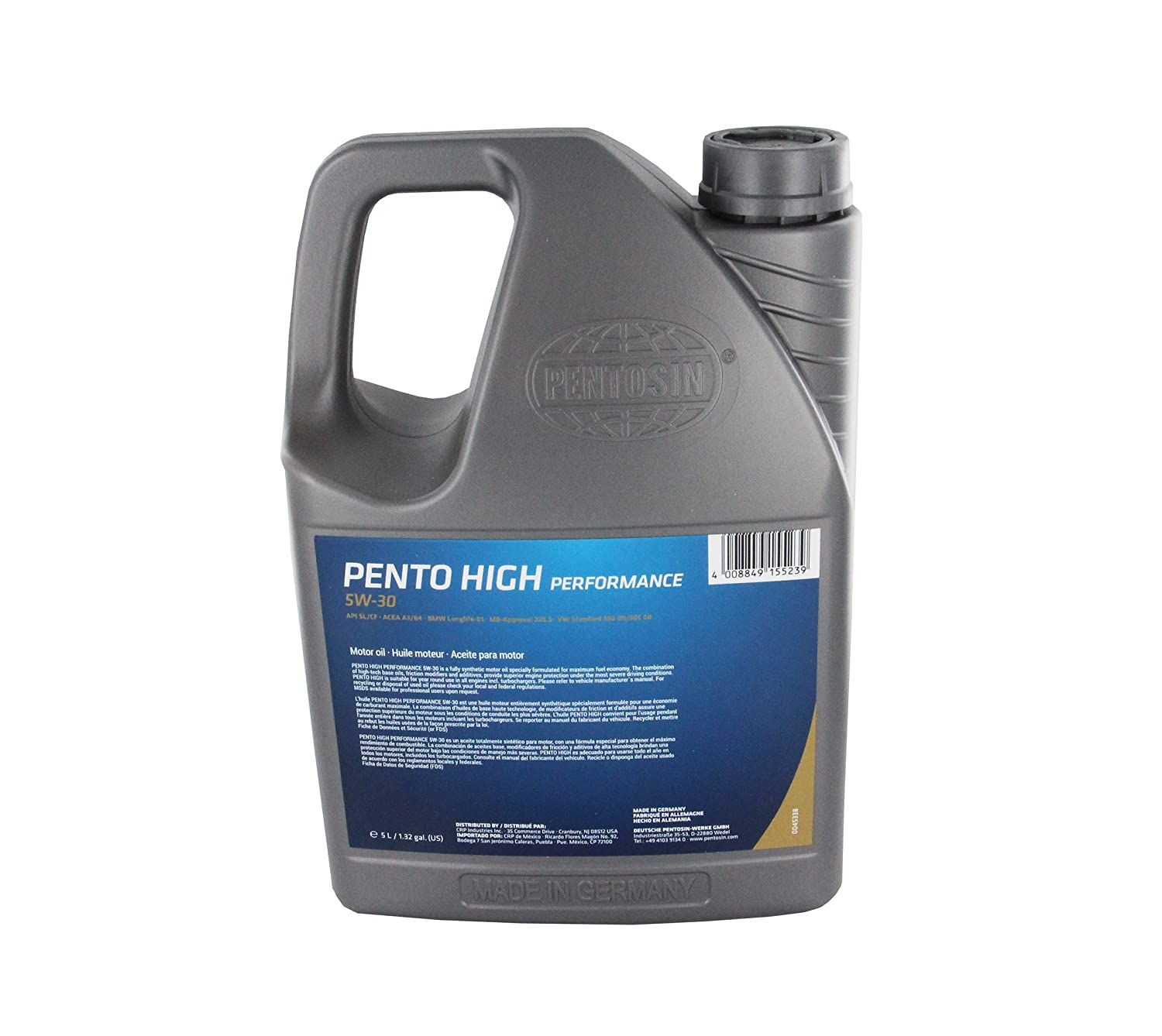 Pentosin 8043206 Pento High Performance 5W-30 Synthetic Motor Oil - 5 Liter
