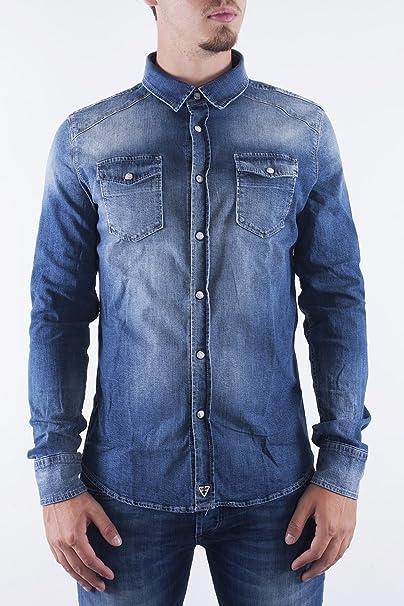 sports shoes b8bb7 ba28f FIFTY FOUR - Camicia jeans manica lunga uomo canny xxl denim ...