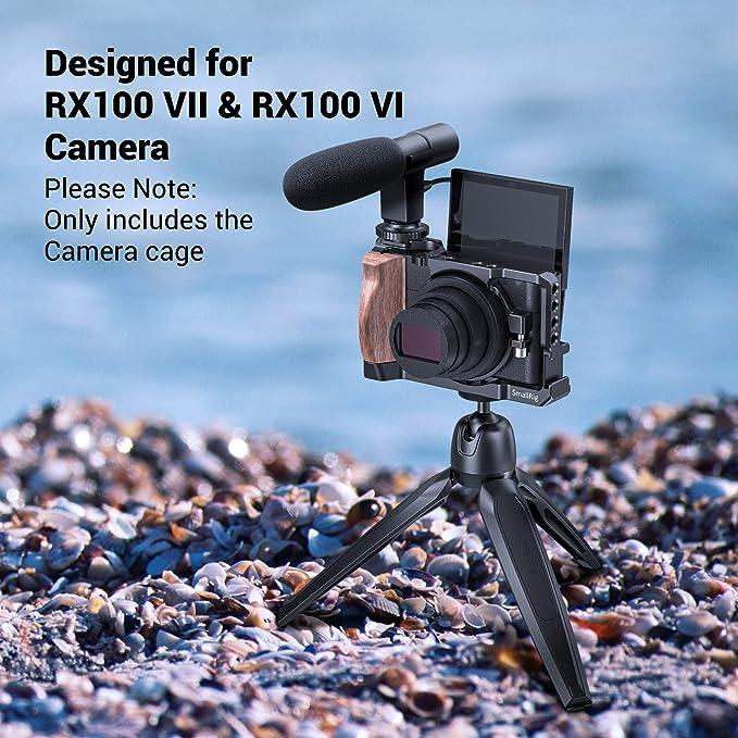RX100 Vi Cage RX100M6 Jaula de c/ámara para Sony DSC-RX100 Vi M6 DSLR Estuche de c/ámara C/ámara Rig Zapato fr/ío