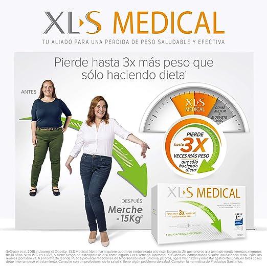 df605504316a XL-S Medical Captagrasas para Perder Peso - Capta 28% de la Grasa Ingerida  - Pastillas para Adelgazar Rápido - 180 Comprimidos, 1 Mes de Tratamiento:  ...