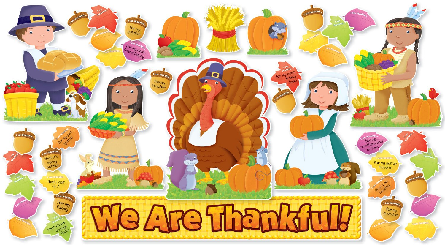 We Are Thankful! Bulletin Board (SC546914) Scholastic General Education Education / General