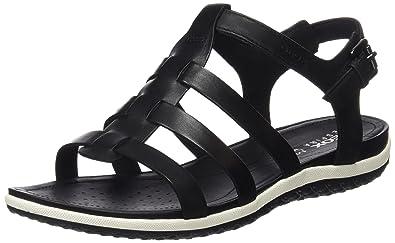fd23f12789e384 Geox D Sandal Vega a, Women's Wedge Heels Sandals, Black (Blackc9999),