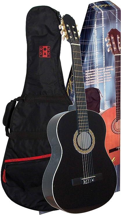 Ashley Guitarra clásica con funda set, Color negro Tamaño 4/4 a ...