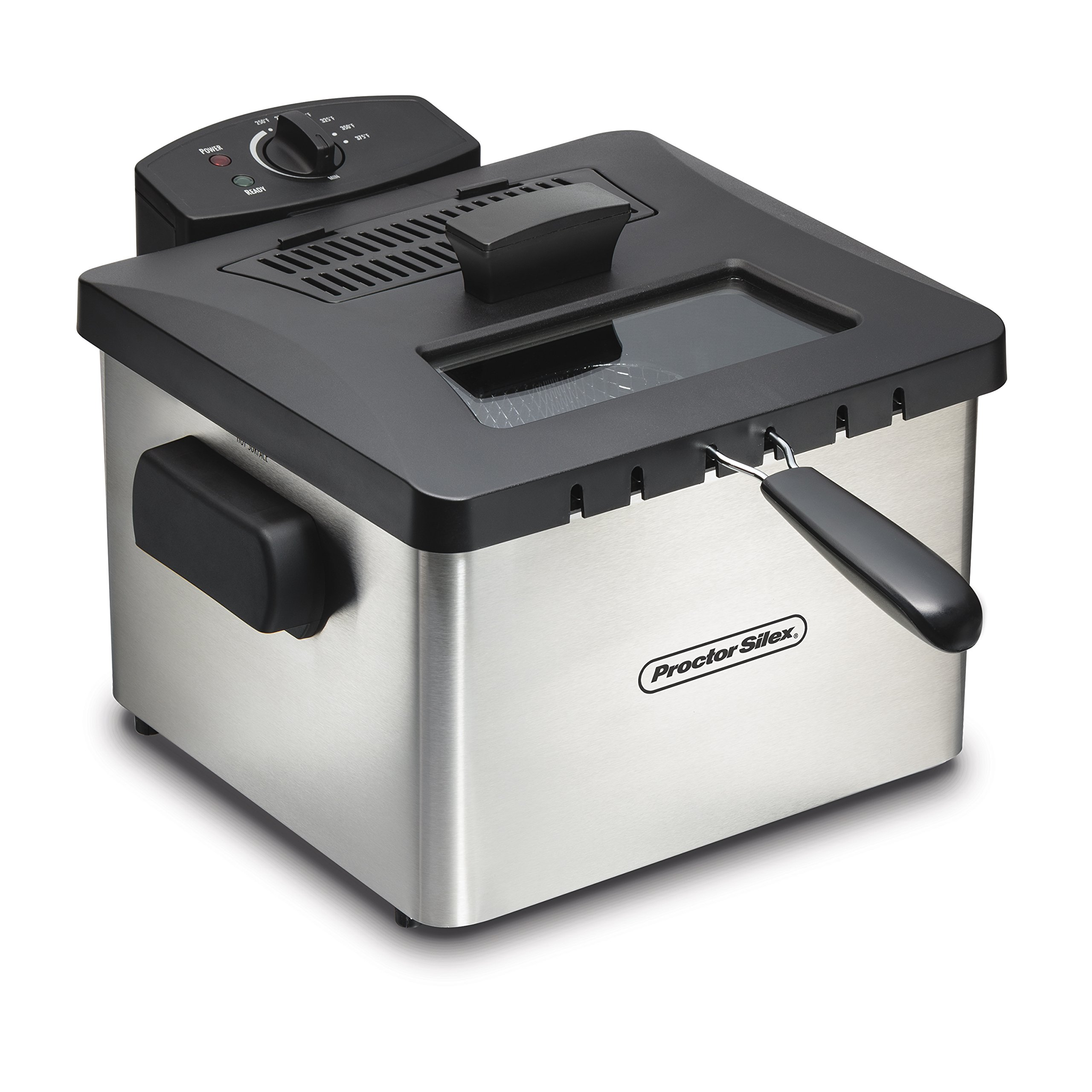 Proctor Silex 35044 Professional-Style Deep Fryer with 5 L Capacity, Silver