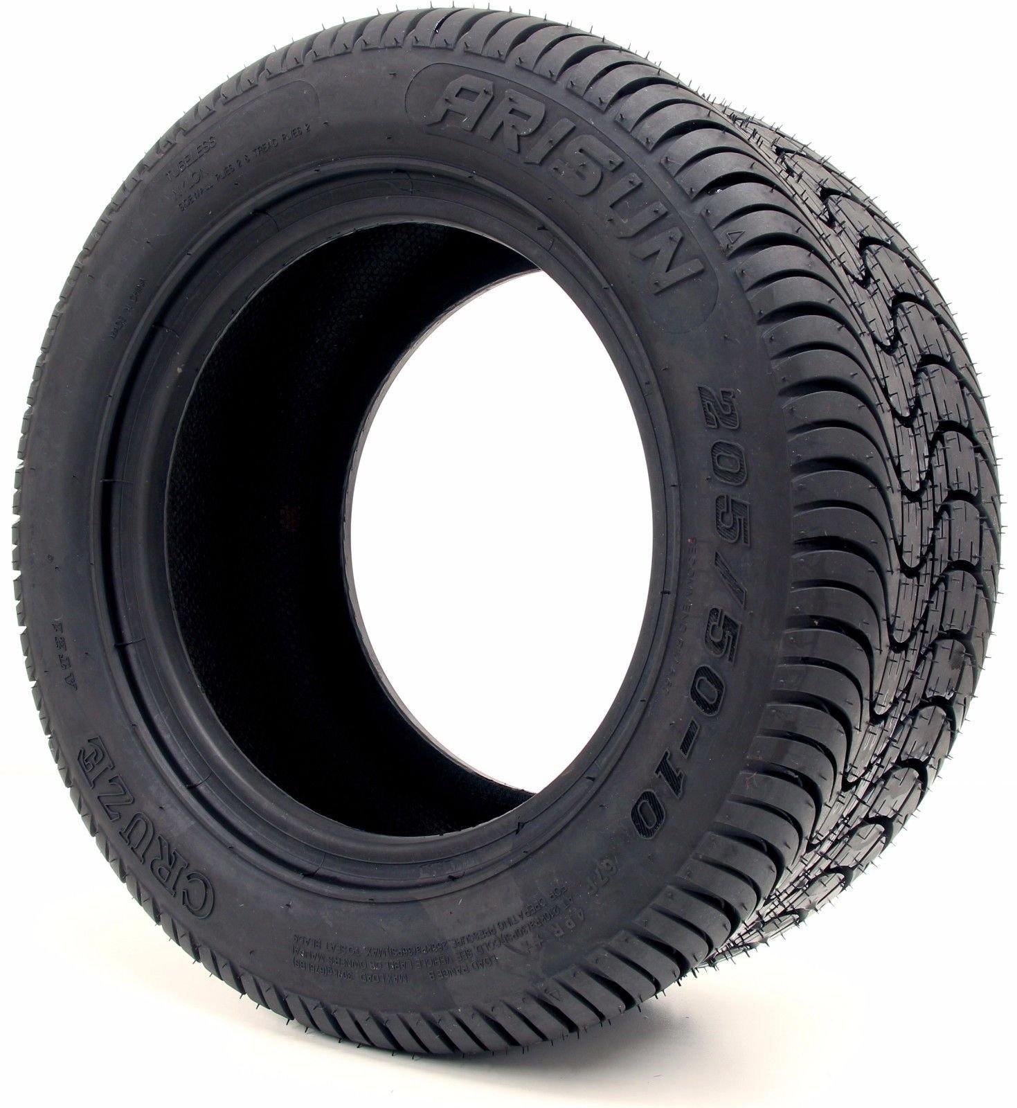 Arisun 205/50-10 DOT Street Tires for EZGO, Club Car, Yamaha Golf Carts (205/50-10, 1 Individual tire)