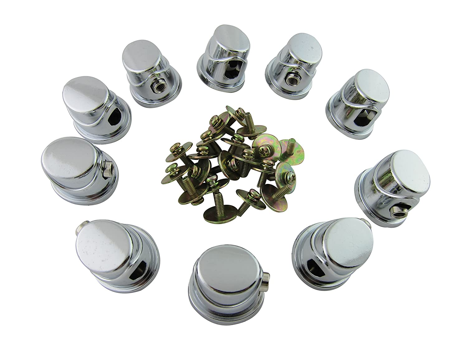 Goedrum Pack of 10 Single End Tom / Bass Drum Lugs with Mounting Screws Goe-9552