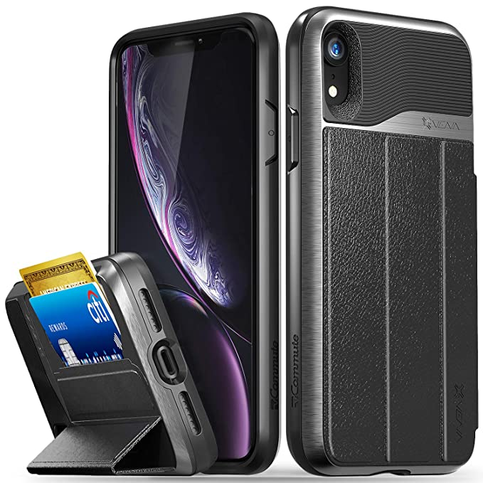 6c50ac67719 Vena iPhone XR Wallet Case, vCommute (Military Grade Drop Protection) Flip  Leather Cover