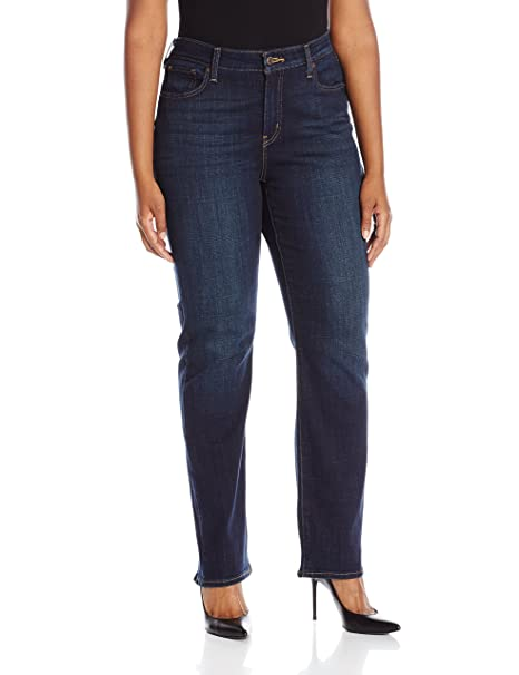 Levi's Women's 414 Plus-Size Classic Straight Jean's, Thistle Lake, 40 (US 20) R best high-waisted jeans