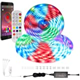 Adubor 65.6ft Led Strip Lights with 24 Keys IR Remote and App Control IPX5 Waterproof 600LEDs Light Strips Kit for Home…