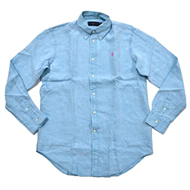 53809740ba3a RALPH LAUREN Women s Long Sleeve Linen Buttondown Shirt at Amazon Women s  Clothing store