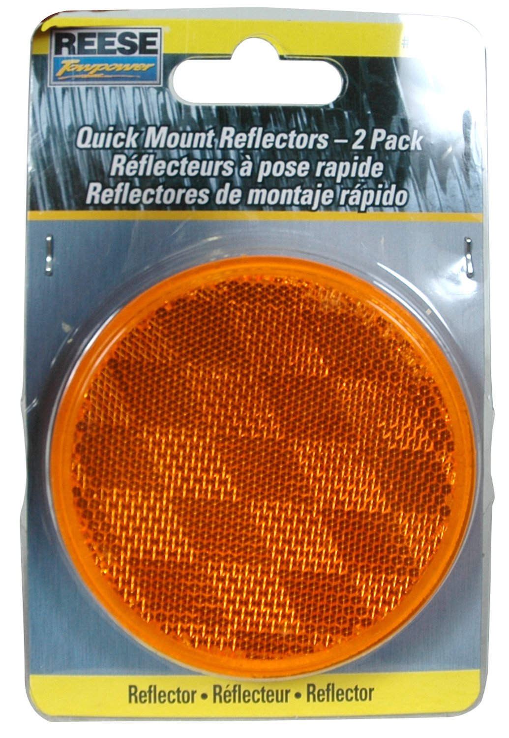 2 Pack Reese Towpower 73817 Amber Reflector