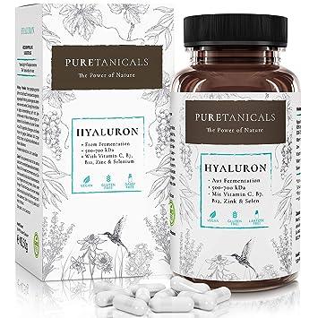 Cápsulas de Ácido Hialurónico Altas Dosis Analizado en Laboratorios - 350 mg + Vitamina C,