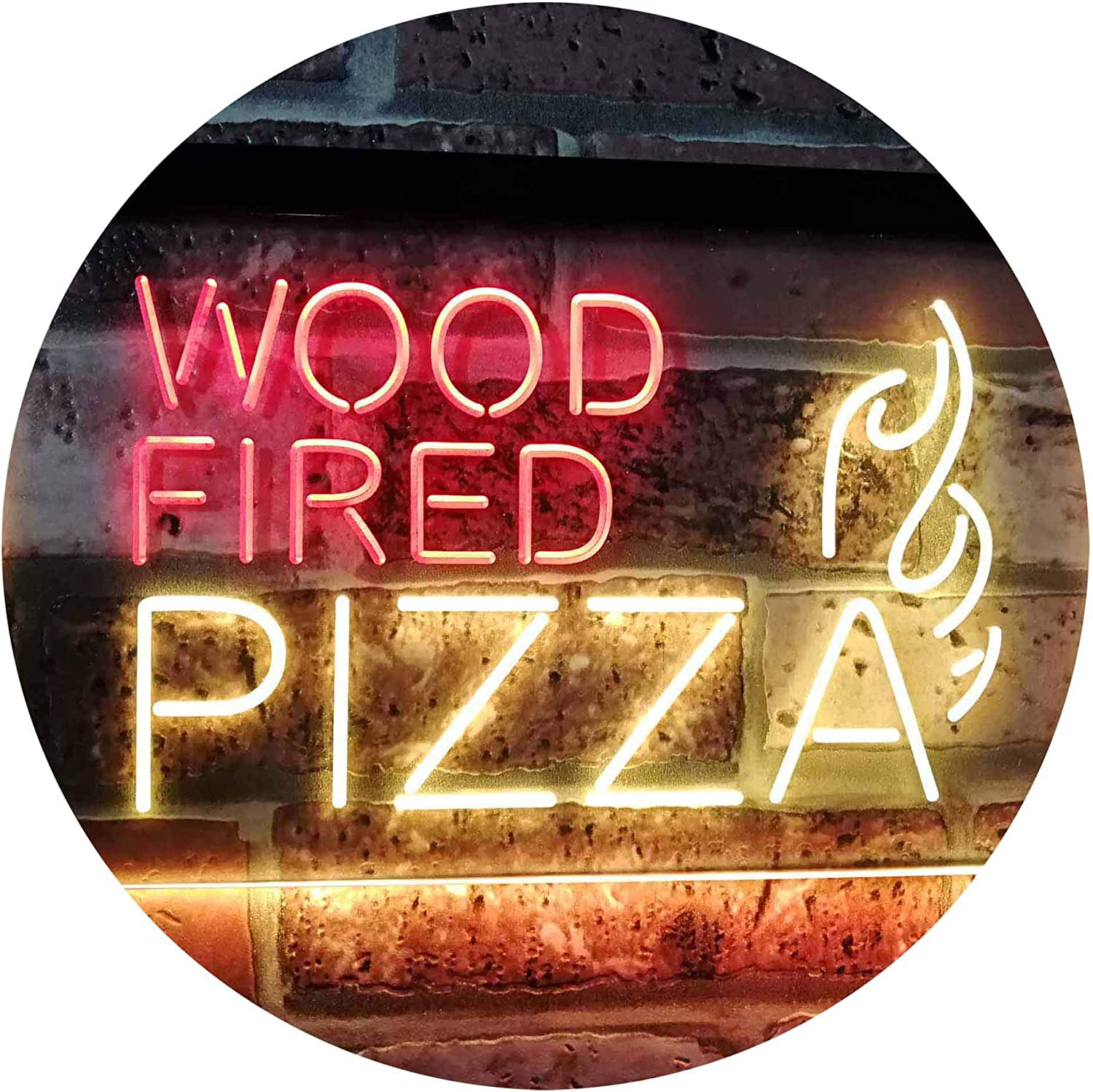 ADVPRO Wood Fired Pizza Dual Color Gorgeous Sign LED 24 Neon Yellow Ranking TOP16 Red