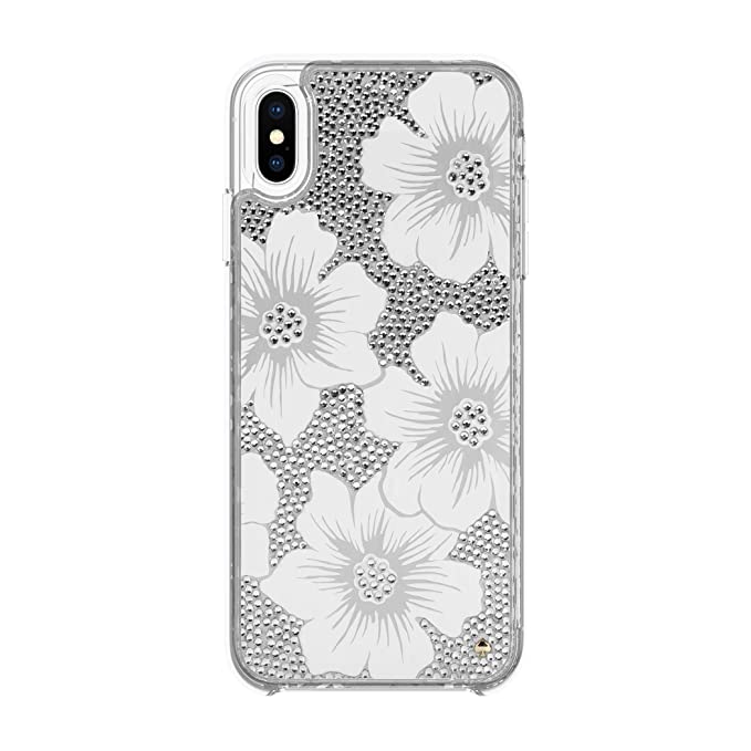 watch 12d64 8f313 Kate Spade New York Phone Case | For Apple iPhone XS Max | Protective Clear  Crystal Phone Cases with Slim Design and Drop Protection - Hollyhock Cream  ...