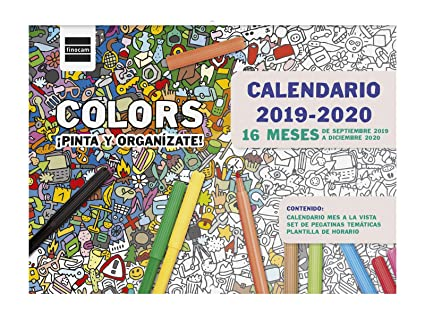 Calendario Fasi Lunari 2020.Calendario Da Parete 16 Mesi 2019 2020 Spagnolo Amazon It