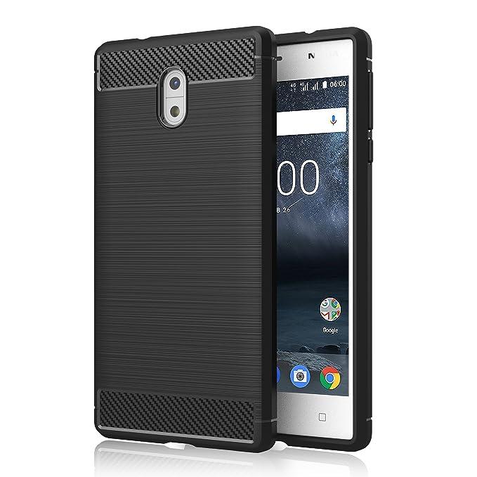 1 opinioni per Cover Nokia 3 , GeeRic Nero Silicone Custodia Nokia 3 Cover Black Molle di TPU