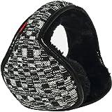 Caliente-u hilados de lana de los hombres de la tela escocesa/plegable ajustable envolver orejeras