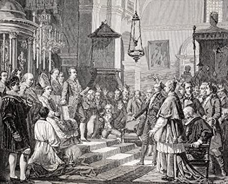 Posterazzi Swearing In Of The Deputies During The Opening Session Of The Cortes Of Cadiz Spain 1810 After A Painting Poster Print By Jos 32 X 26 Posters Prints
