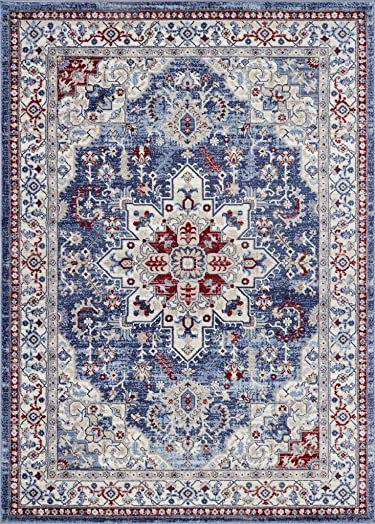Luxe Weavers Victoria Collection Blue Oriental 8×10 Area Rug 7525