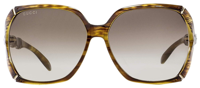 e956f473b8 Amazon.com  Gucci Square Sunglasses GG0505S 003 Brown 58mm 0505  Clothing