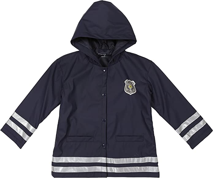 Capelli New York Toddler Boys Policeman Style Rain Slicker with Hood and Pockets