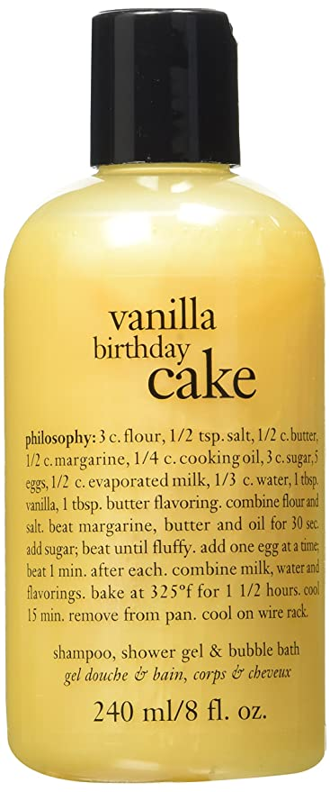 Buy Philosophy Vanilla Birthday Cake Shampoo Shower Gel Bubble Bath 8oz Online At Low Prices In India