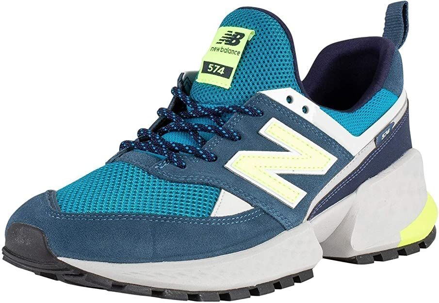 new balance 574 uomo pelle grigio blu