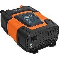 Truper INCO-750, Accesorios para auto Inversores de corriente con puerto USB 1,000 W Convierte la corriente del vehículo…