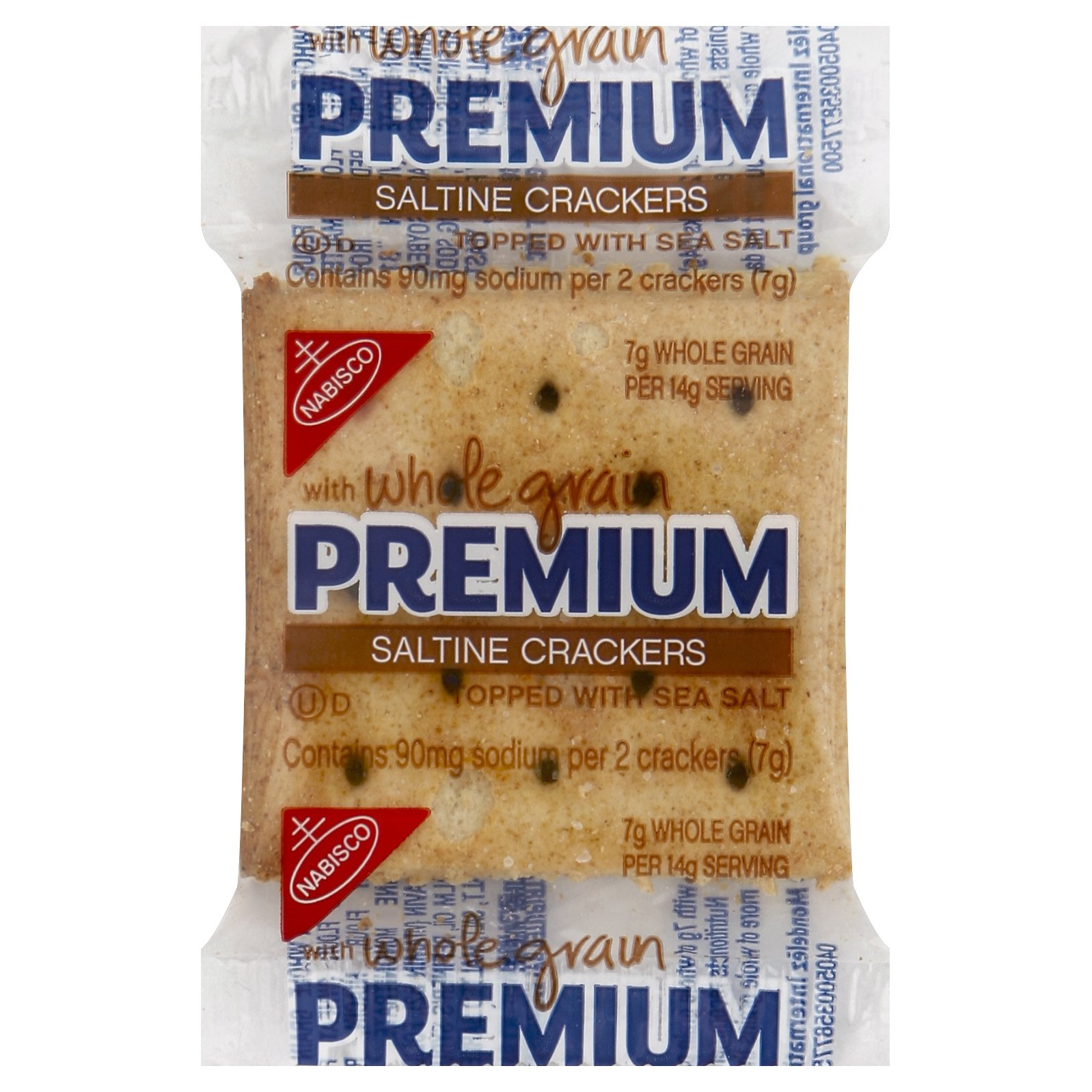 Premium Saltine Crackers with Whole Grain, 0.24 Ounce (Pack of 500) by PREMIUM